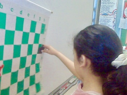 Chess Demo Board with Student